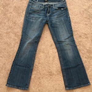 Express Rerock Low Rise Bootcut Denim Jeans 10S